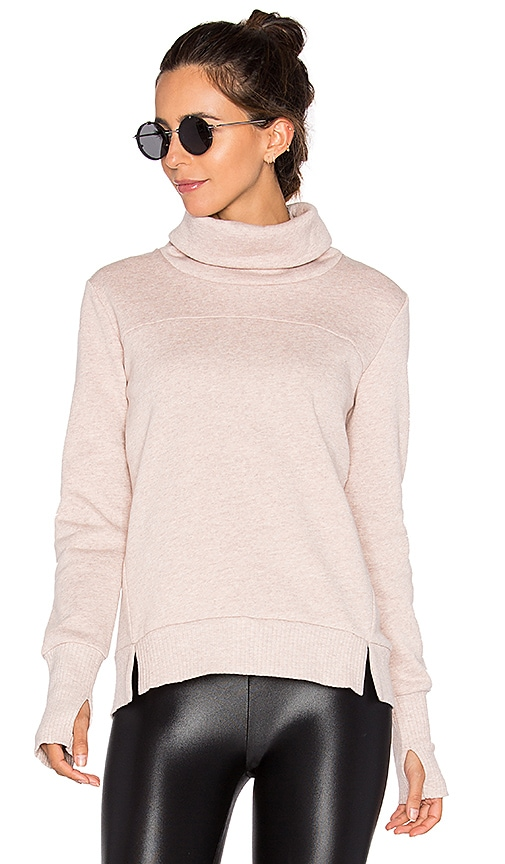 alo Haze Long Sleeve Sweatshirt in Taupe