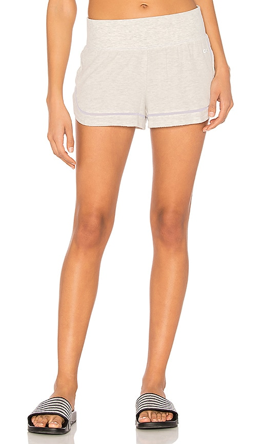 alo Charm Short in Light Gray
