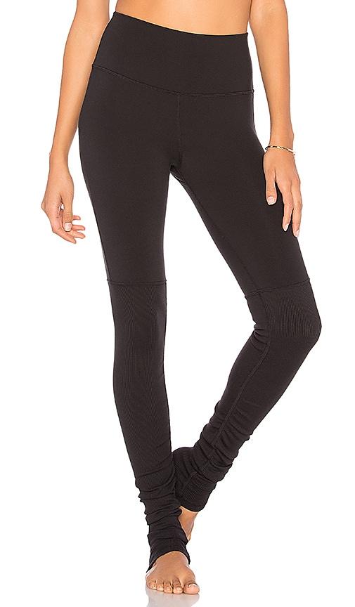 17bf7a7102 alo High Waist Goddess Legging in Black & Black | REVOLVE