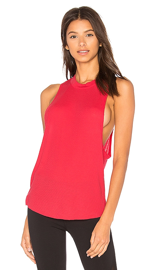 alo Heat Wave Tank in Pink