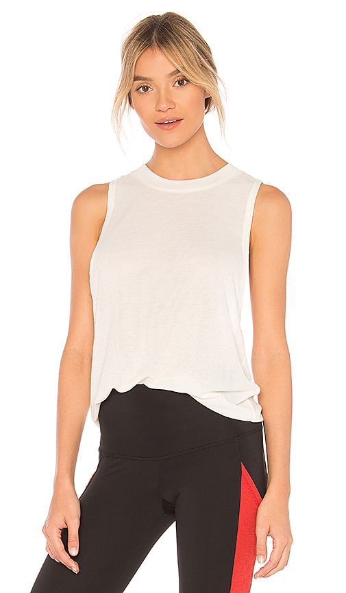 alo Heat Wave Tank in Ivory