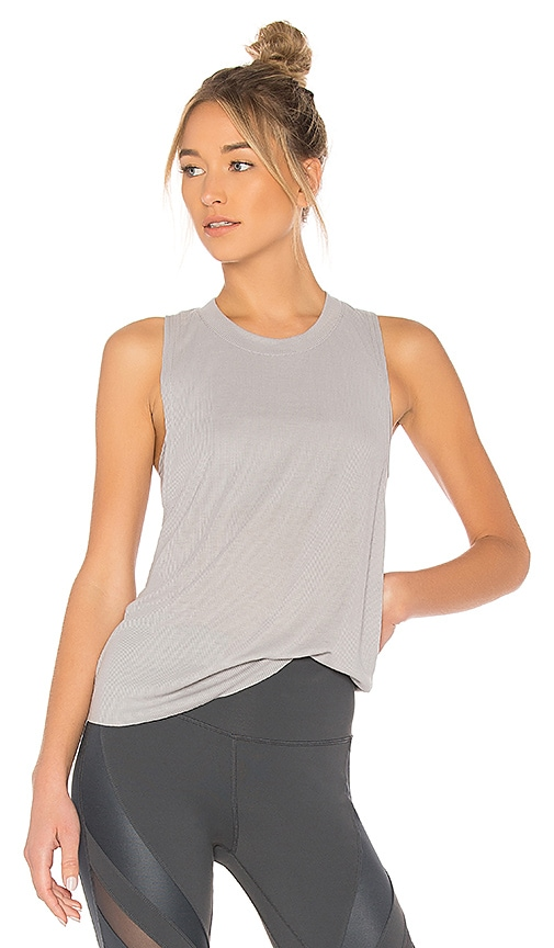 alo Heat Wave Tank in Gray