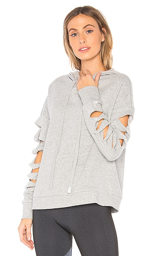 alo Slay Hoodie in Gray