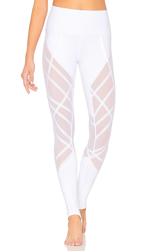 High Waist Wrapped Stirrup Legging in White. - size M (also in L,S,XS) Alo