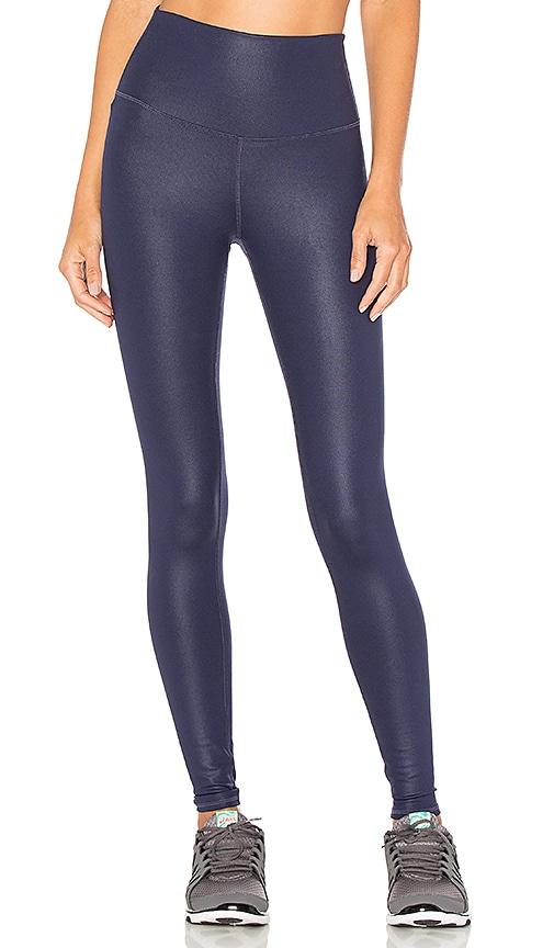 3af1d56879ad5b alo High-Waist Airbrush Legging in Rich Navy Glossy | REVOLVE