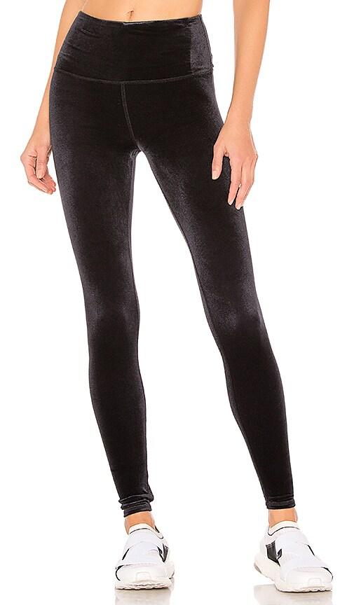9adad0ebc6e01 alo High Waist Posh Velvet Legging in Black | REVOLVE