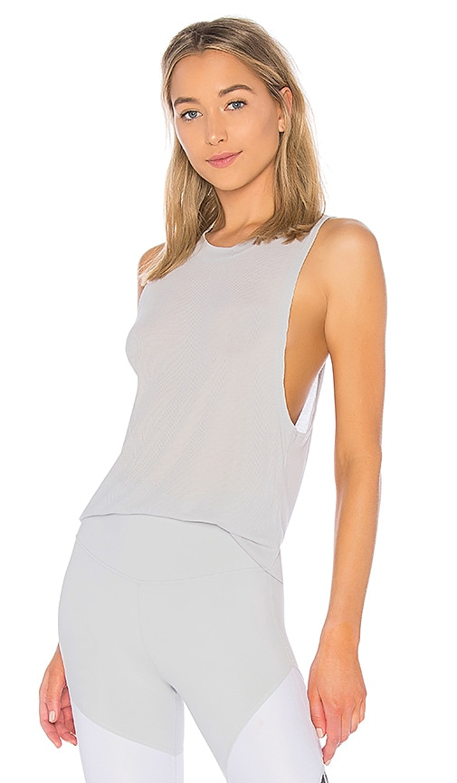 alo Heat Wave Tank in Light Gray