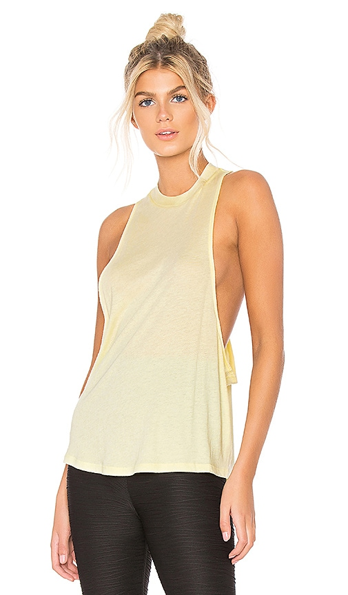 alo Flex Tank in Yellow