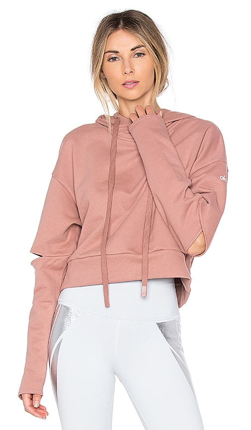 alo Peak Top in Rose