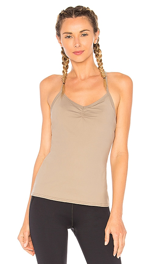 alo Sunny Strappy Tank in Taupe