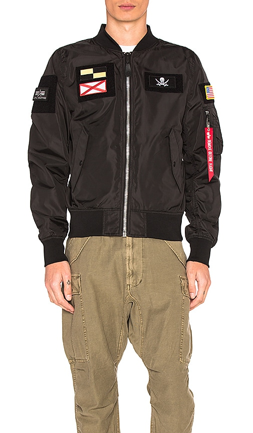 ALPHA INDUSTRIES L 2B Flex Bomber in Black
