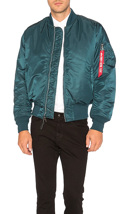 ALPHA INDUSTRIES MA 1 Bomber Jacket in Blue