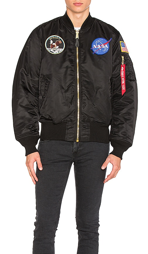 ALPHA INDUSTRIES Apollo MA 1 Bomber in Black