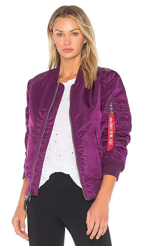 ALPHA INDUSTRIES MA-1 Jacket in Purple