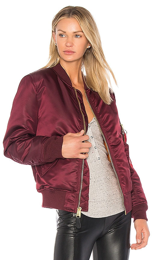 ALPHA INDUSTRIES MA-1 Jacket in Burgundy