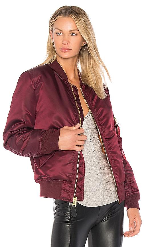 ALPHA INDUSTRIES MA-1 Jacket in Burgundy