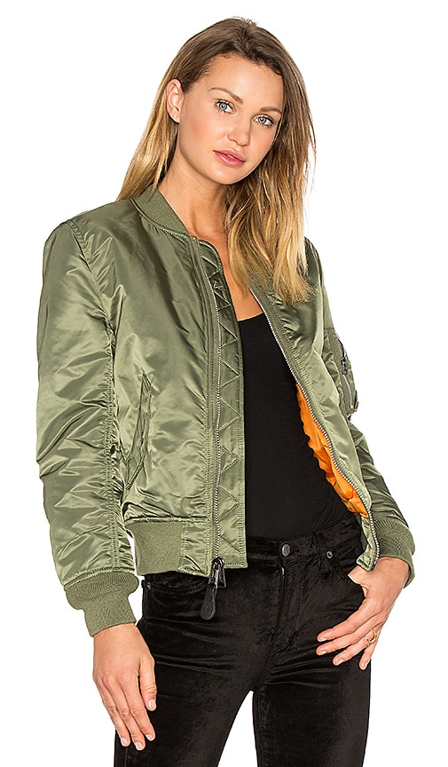 ALPHA INDUSTRIES MA-1 W Bomber in Green