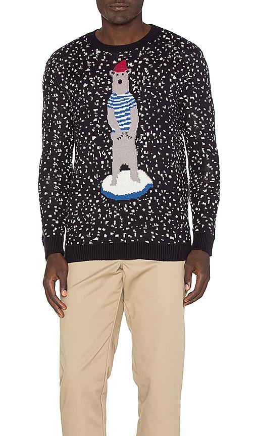 Altru Polar Ice Caps Sweater in Black & White