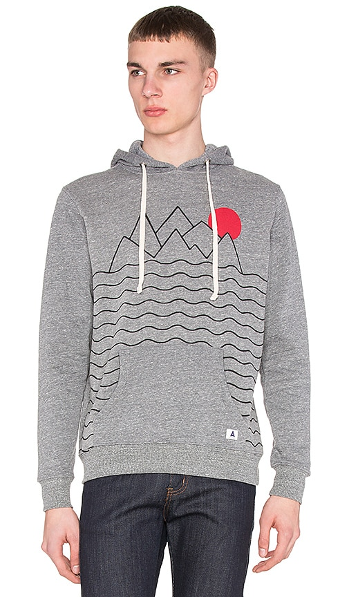 Altru Mountains and Sun Hoodie in Triblend Gray