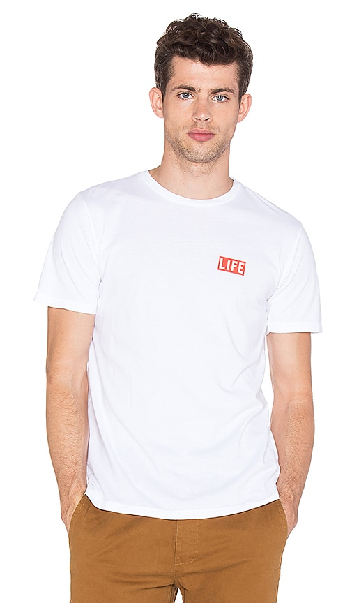 Altru Life Box Logo Tee in White