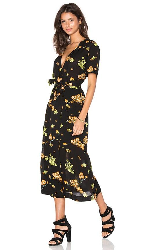 A.L.C. Stephanie Dress in Black, Orange, & Cactus