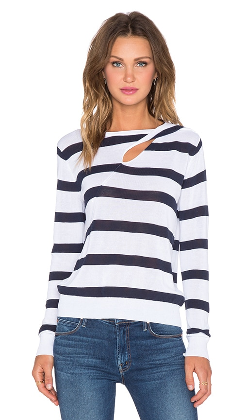 A.L.C. Robinson Sweater in White & Navy