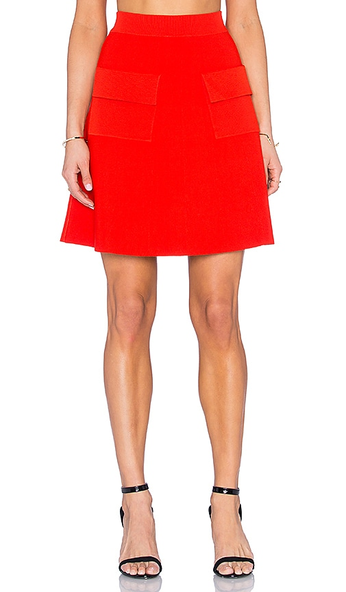 A.L.C. Aaron Skirt in Red