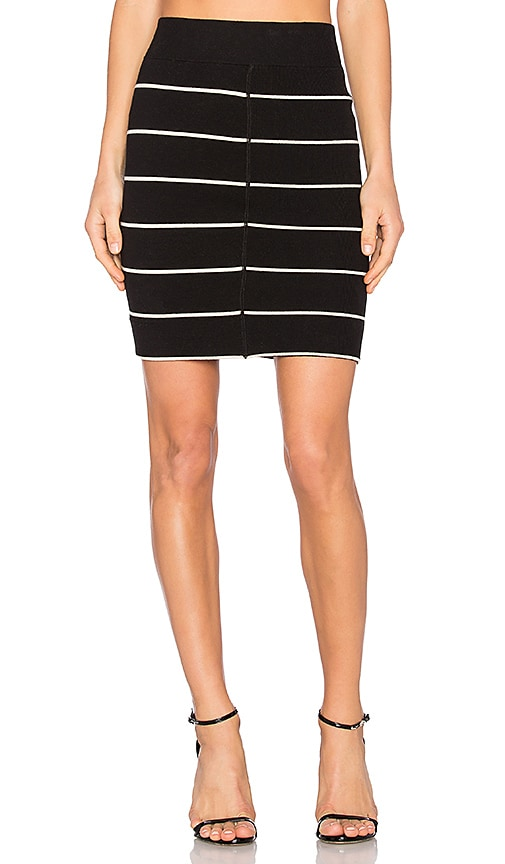 A.L.C. Bryce Skirt in Black & White