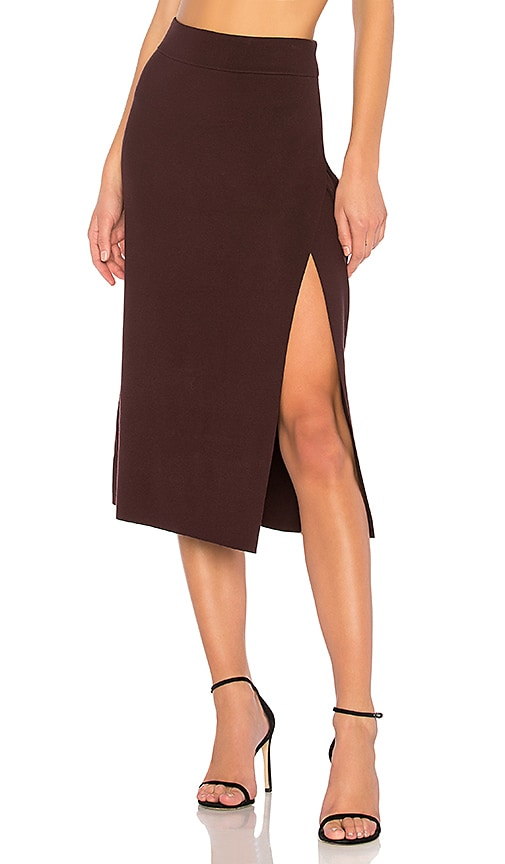A.L.C. Smith Skirt in Burgundy