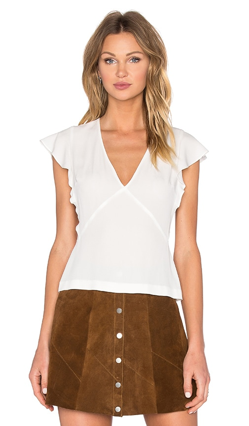 A.L.C. Marika Top in White