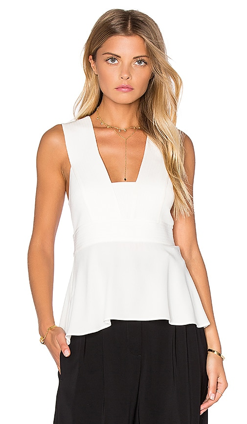 A.L.C. Leigh Top in White