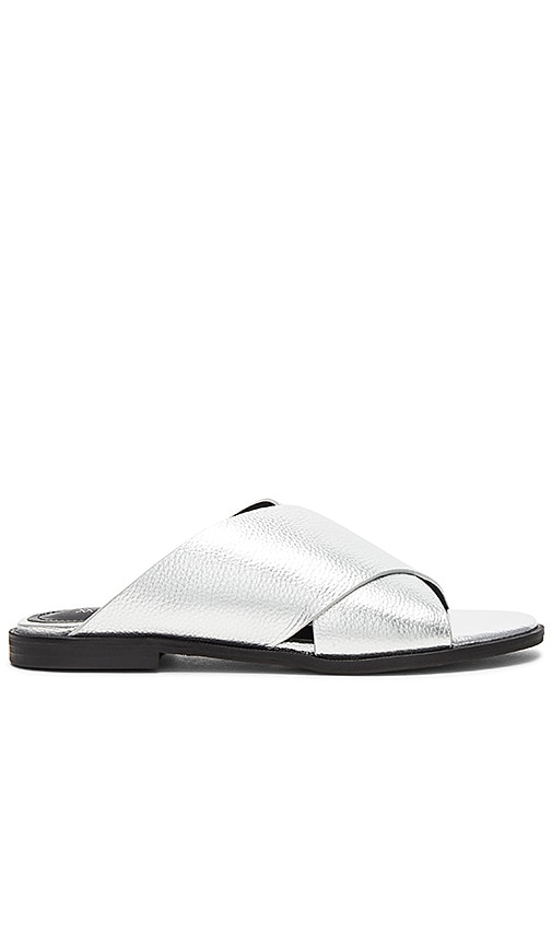 Alias Mae Thesis Sandal in Metallic Silver