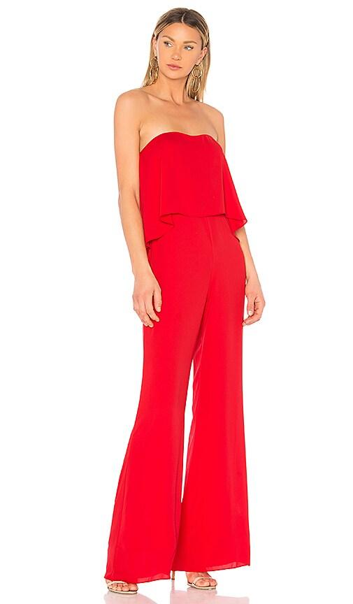 Amanda Uprichard Topanga Jumpsuit in Red