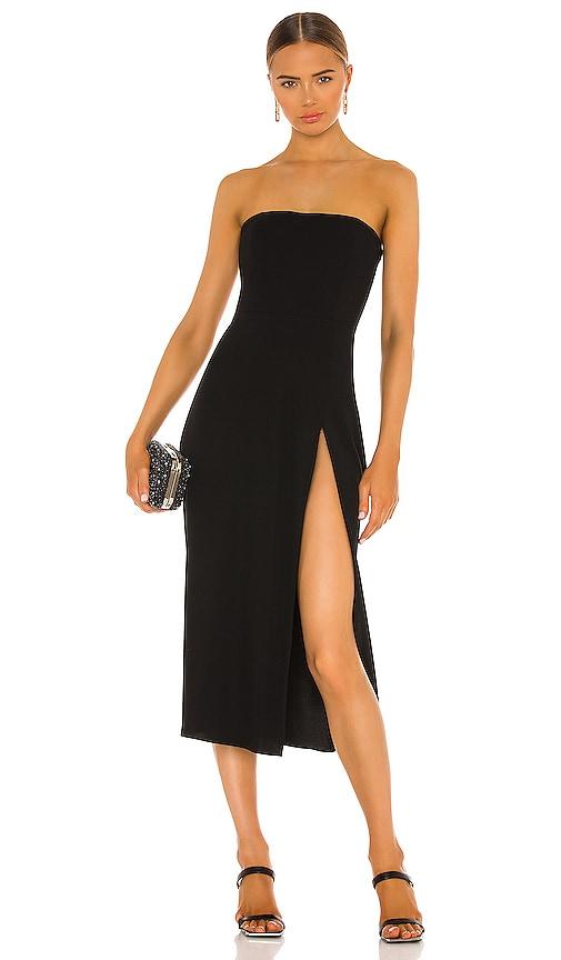 Amanda Uprichard Mandy Midi Dress In Black