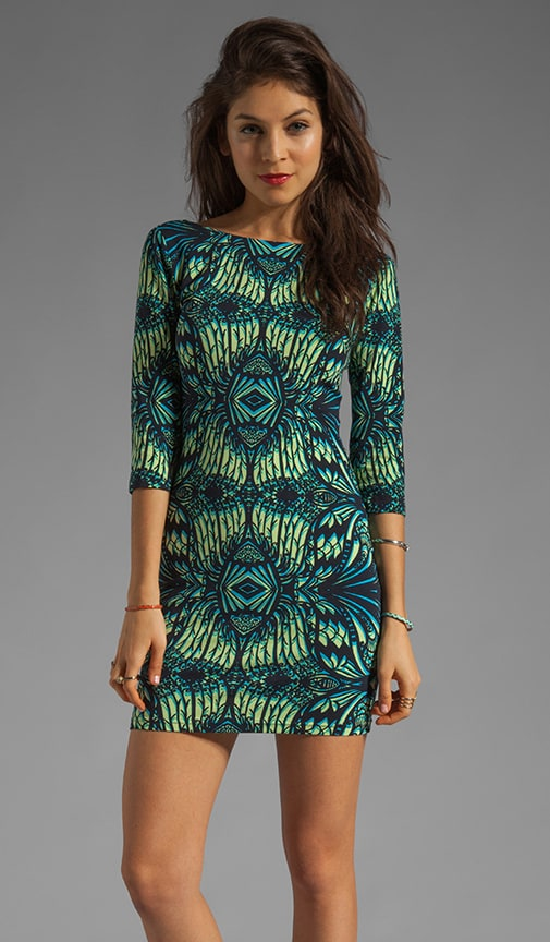 1811a76d96 Amanda Uprichard Jersey Mini Sheath Dress in Aqua Jungle Lace | REVOLVE
