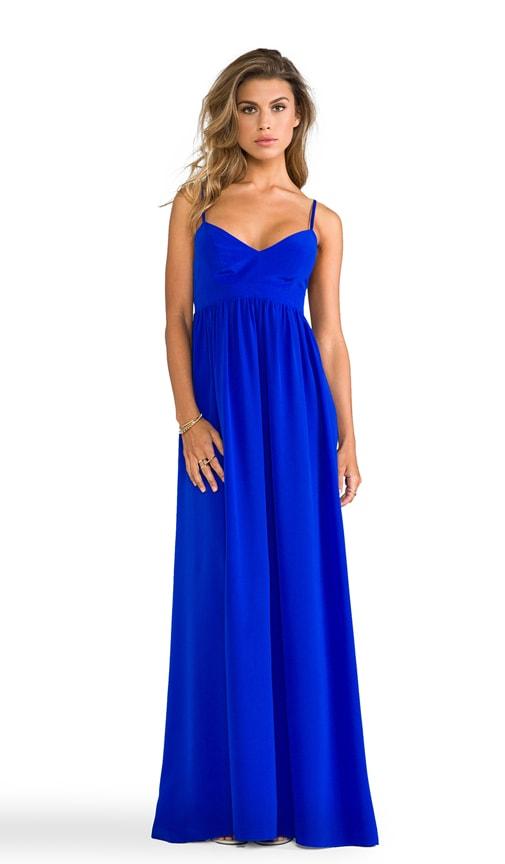 Amanda Uprichard Silk Gown in Royal | REVOLVE