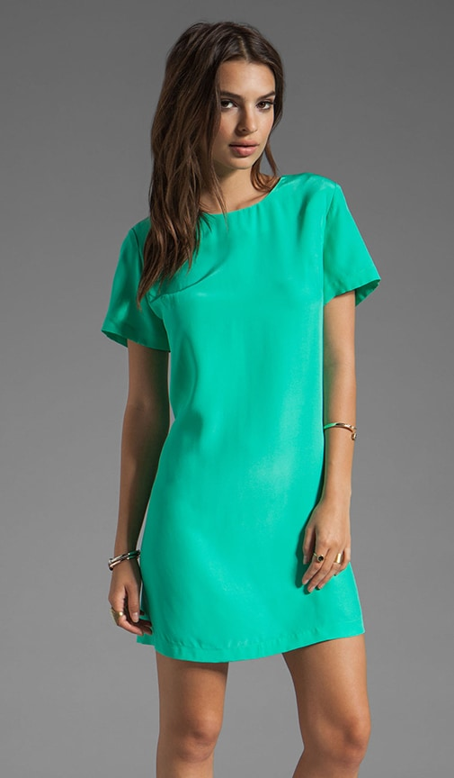 Silk Short Sleeve Sheath Dress