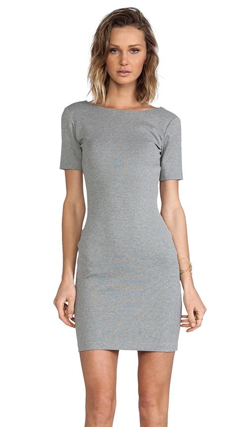 Short Sleeve Column Mini Dress