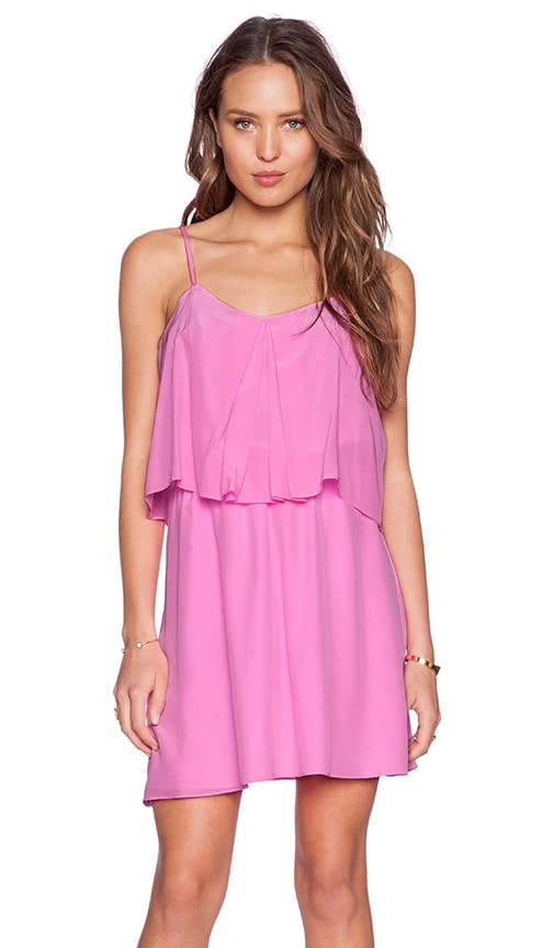 Amanda Uprichard Summer Mini Dress in Shocking Pink