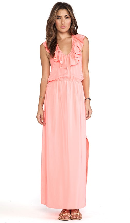 Ruffle Halter Maxi Dress