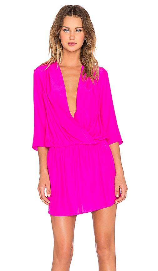 Amanda Uprichard Paloma Dress in Hot Pink