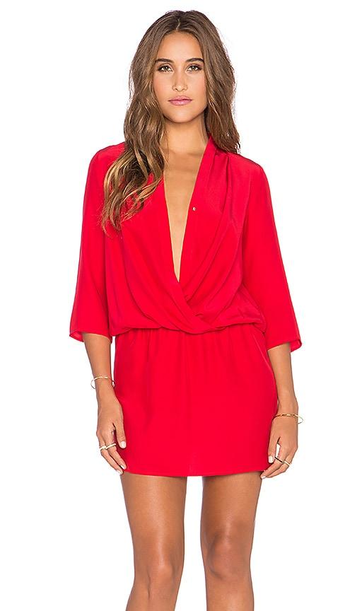 Amanda Uprichard Paloma Dress in Red