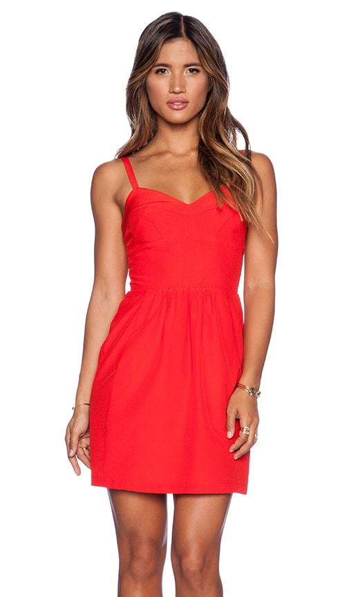 Amanda Uprichard Manhattan Dress in Poppy