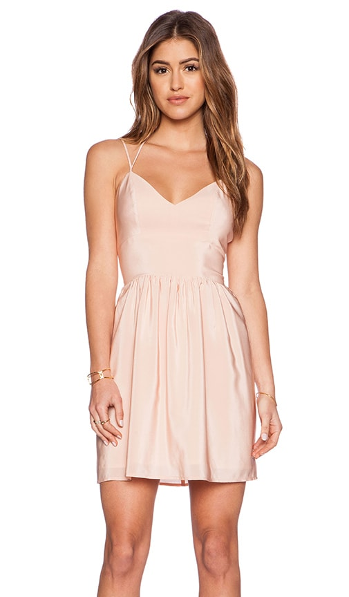 Amanda Uprichard Whenever Dress in Peach