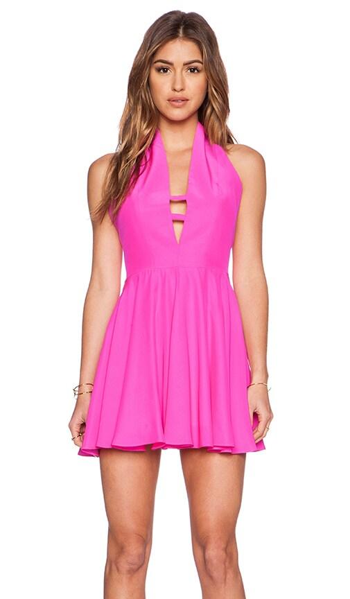 Amanda Uprichard Preston Dress in Hot Pink Light