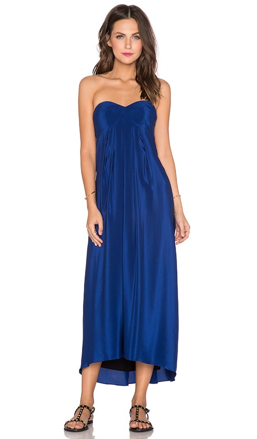 Amanda Uprichard Tie Back Maxi Dress in Sapphire