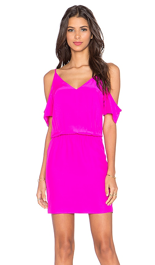 Amanda Uprichard Teagan Mini Dress in Hot Pink Light  REVOLVE