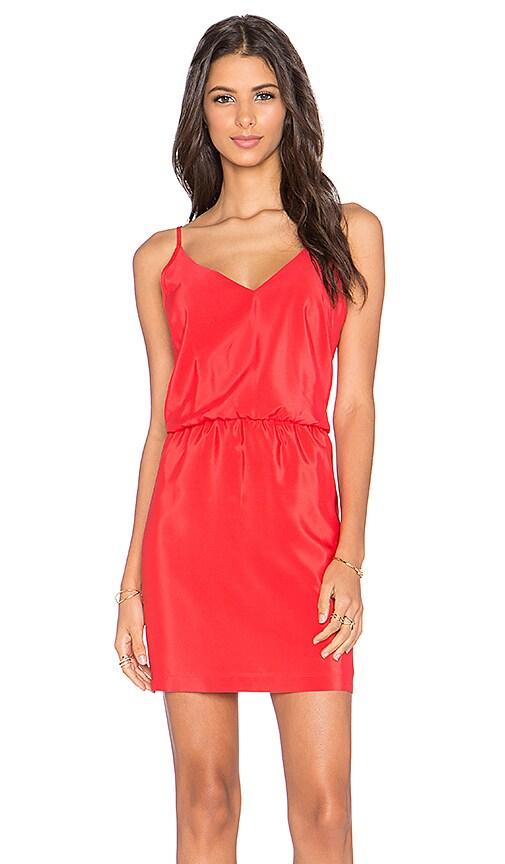 Amanda Uprichard Ashton Mini Dress in Red