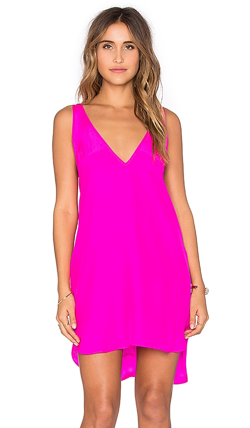 Amanda Uprichard Vita Dress in Fuchsia