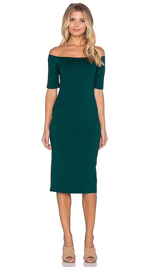 Amanda Uprichard Electra Dress in Evergreen